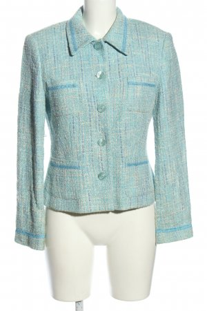 Apart Impressions Blazer in tweed turchese puntinato stile professionale