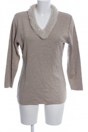Apart Impressions Wollpullover hellgrau meliert Casual-Look