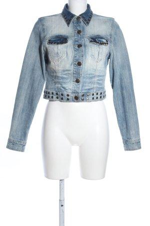 Apart Veste en jean bleu style décontracté