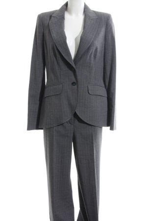 Apart Jersey Twin Set hellgrau-weiß Streifenmuster Business-Look
