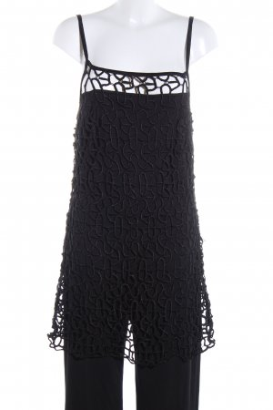 Apart Jumpsuit black weave pattern casual look