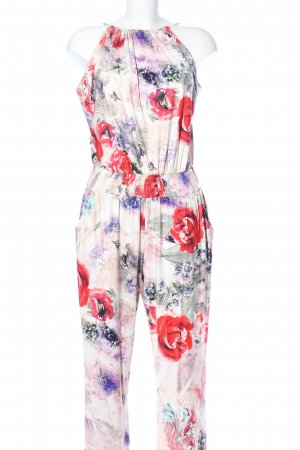 Apart Jumpsuit creme-rot Allover-Druck Casual-Look