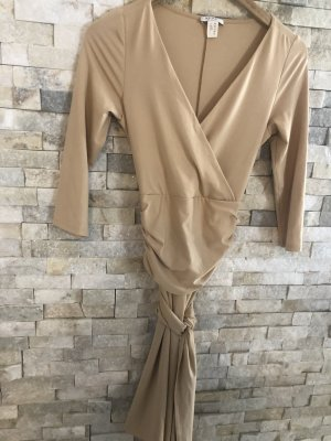 Apart A-lijn jurk beige Gemengd weefsel