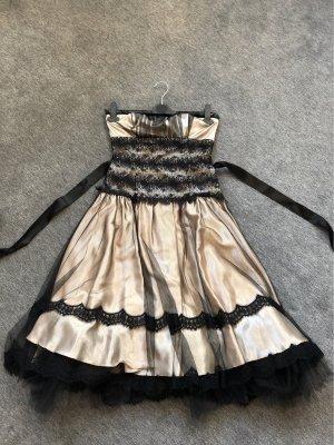 Apart Kleid mit spitze und Tüll in schwarz gr 36