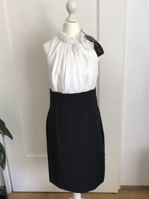 Apart Pencil Dress white-black