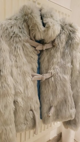 Apart Fur Jacket silver-colored-light grey