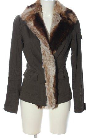 Apart Cappotto in eco pelliccia grigio chiaro-marrone stile casual