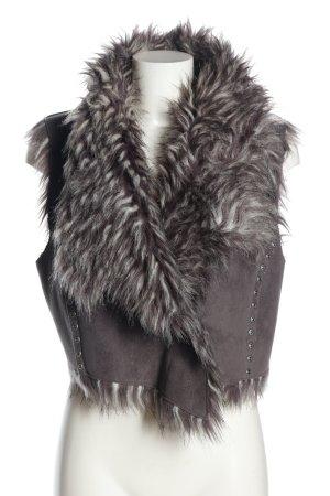Apart Fake Fur Vest light grey casual look