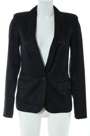 Apart Kurz-Blazer schwarz Allover-Druck Business-Look