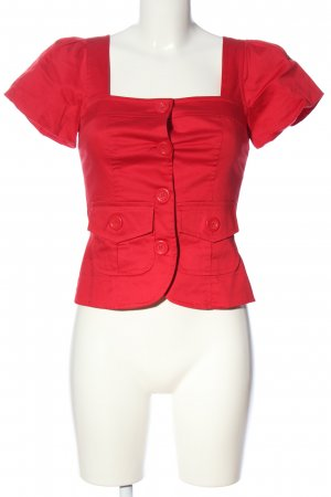 Apart Kurzarm-Bluse rot Business-Look