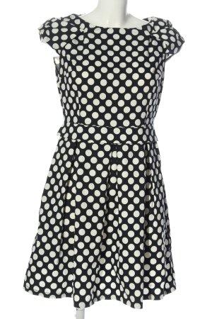 Apart Vestido de manga corta negro-blanco elegante