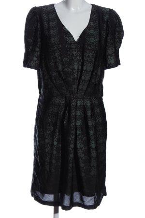 Apart Robe à manches courtes noir motif abstrait style classique