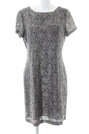 Apart Sukienka z krótkim rękawem jasnoszary Abstrakcyjny wzór W stylu casual