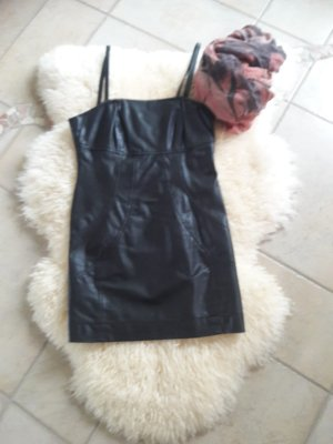 Apart Leather Dress black