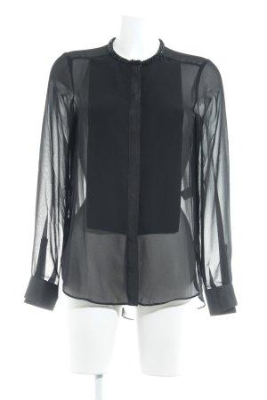 Apart Bluzka z długim rękawem czarny W stylu biznesowym