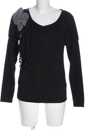 Apart Long Sleeve Blouse black-light grey casual look