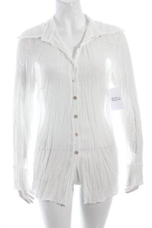 Apart Langarm-Bluse weiß klassischer Stil