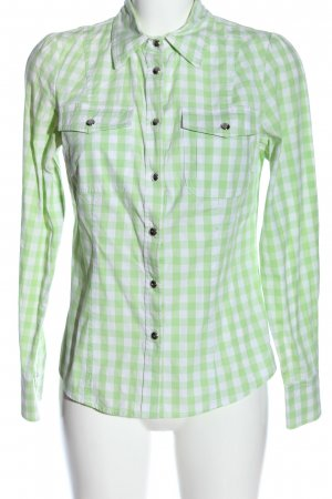 Apart Long Sleeve Shirt white-green allover print casual look