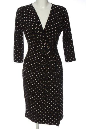 Apart Sukienka z długim rękawem czarny-biały Na całej powierzchni