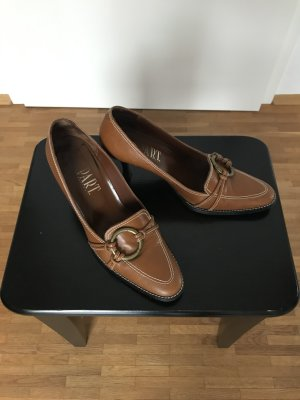 Apart Classic Court Shoe cognac-coloured leather