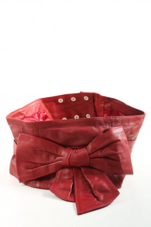 Apart Leather Belt red extravagant style