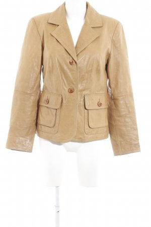 Apart Giacca in pelle color cammello stile casual