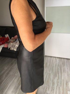 Apart Vestito in pelle nero