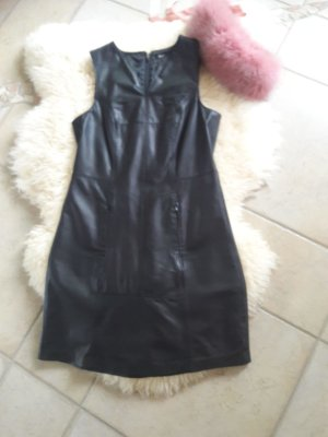 Apart Robe en cuir noir