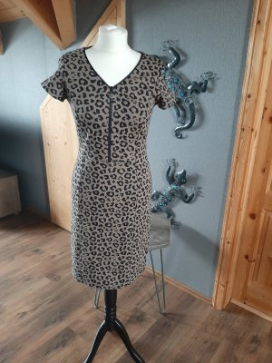Apart Fashion Vestito di lana nero-bronzo Lana