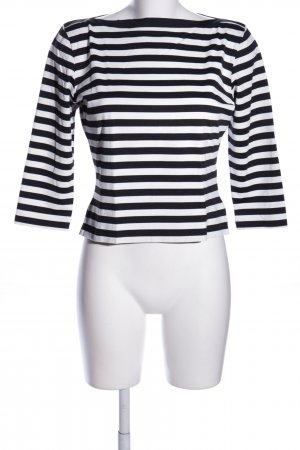 Apart Longsleeve schwarz-weiß Streifenmuster Casual-Look