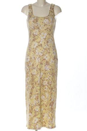 Apart Sukienka maxi w kolorze białej wełny-bladożółty Na całej powierzchni
