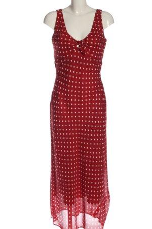 Apart Maxi Dress red-white spot pattern elegant