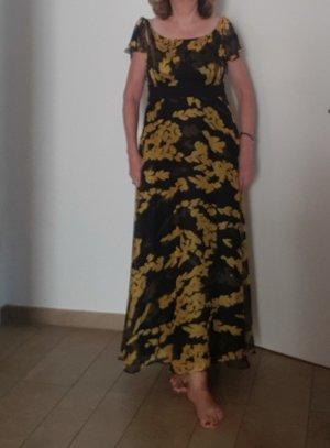 Apart Fashion Maxi-jurk zwart-geel Polyester