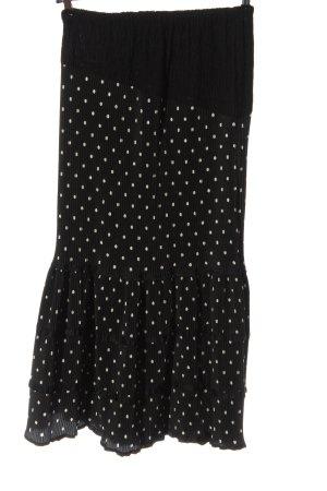 Apart Falda larga negro estampado a lunares look casual
