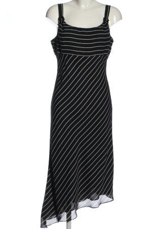 Apart Midi-jurk zwart-wit gestreept patroon casual uitstraling
