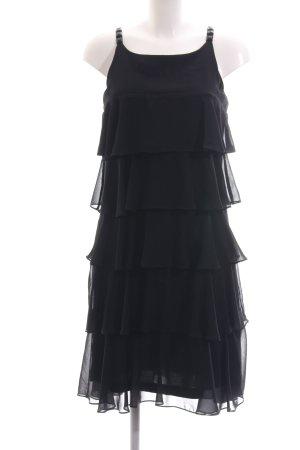 Apart Midikleid schwarz extravaganter Stil