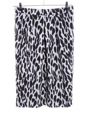 Apart Spódnica midi biały-czarny Na całej powierzchni W stylu casual