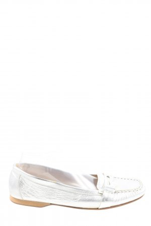 Apart Moccasins silver-colored casual look