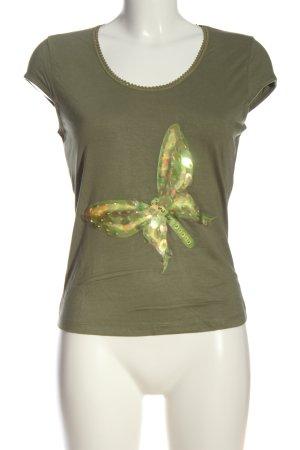 Apart T-Shirt khaki Motivdruck Casual-Look