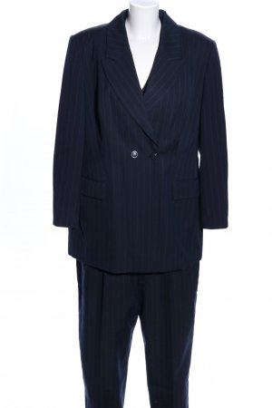 Apart Pinstripe Suit blue striped pattern business style