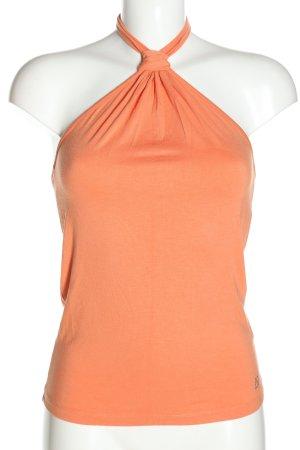 Apart Top z dekoltem typu halter jasny pomarańczowy W stylu casual