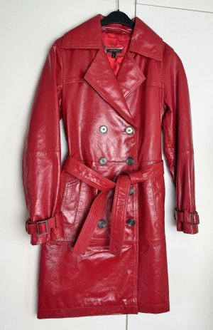 Apart Leather Coat red-brick red leather