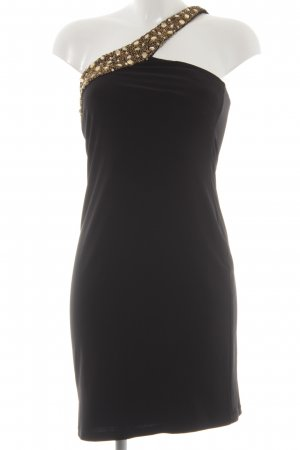 Apart One Shoulder Dress black-gold-colored elegant