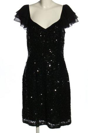 Apart Pailettenkleid schwarz Elegant