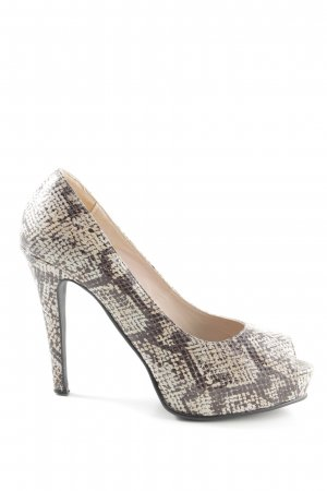 Apart Peeptoe Pumps Allover-Druck extravaganter Stil