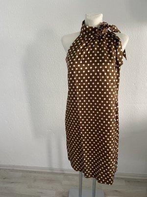 Apart Vestido de cuello Halter marrón-blanco