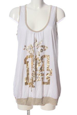 Apart Print-Shirt weiß-goldfarben Motivdruck Casual-Look