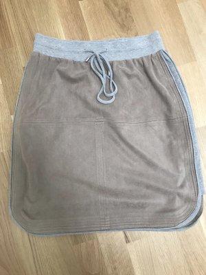 Apart Minigonna marrone-grigio-grigio chiaro