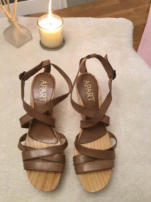 Apart Clog Sandals light brown-beige