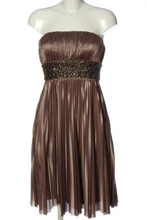 Apart schulterfreies Kleid bronzefarben Elegant